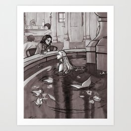 The Magic Fountain Art Print