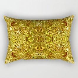 Sparkling gold glass mosaic Rectangular Pillow