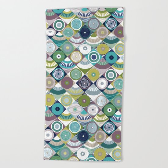 scales and pearls Beach Towel