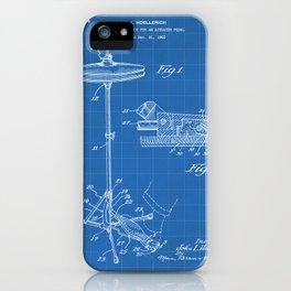 Hi Hat Drum Patent - Drummer Art - Blueprint iPhone Case