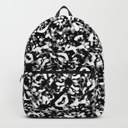Black and White Abstract Texture Design Backpack
