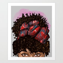Peakaboo afro Art Print