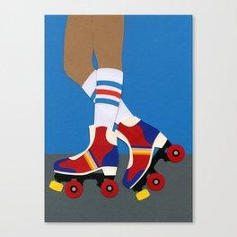 70s Roller Skate Girl Canvas Print