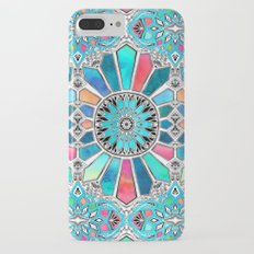 Iridescent Watercolor Brights on White Slim Case iPhone 7 Plus