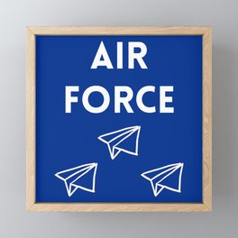 Air Force Paper Airplanes Framed Mini Art Print