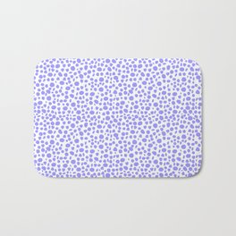 Small Random Dots Salmon BLUE Bath Mat