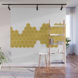 Honeycomb White Wall Mural