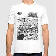 The waiting MEDIUM White Mens Fitted Tee