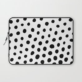 Black and White Dots Laptop Sleeve