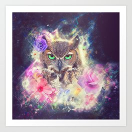 Space Owl with Spice Art Print