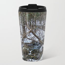 Winter Creek in the Forest Travel Mug