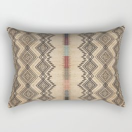 Traditional Oriental African Moroccan Style Artwork. Rectangular Pillow