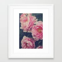 peonies Framed Art Prints featuring Peonies  by Kameron Elisabeth