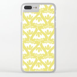 Yellow and White Flowers Clear iPhone Case