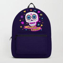 Sugar Rush Skull - Multi Colors - Bright - Halloween Backpack