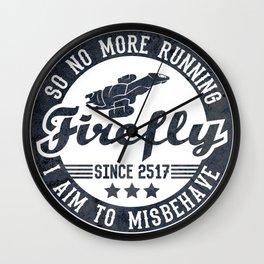 Misbehave Badge V1 Wall Clock