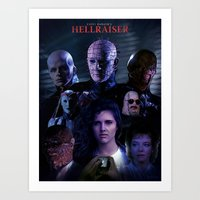 saga Art Prints featuring Hellraiser Saga by Saint Genesis