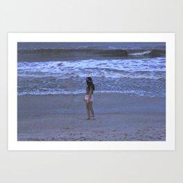 Beach Film Art Print