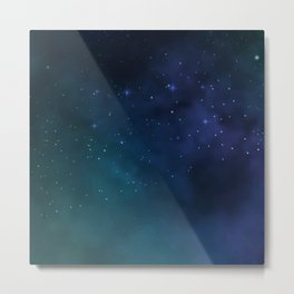 BLUE GREEN GALAXY Metal Print
