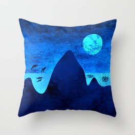 The Blue Ocean Throw Pillow