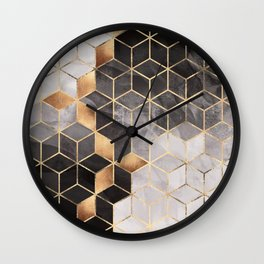 Smoky Cubes Wall Clock