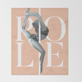 Pole Dance Throw Blanket