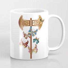 Double Headed Axe Labrys & Butterflies - Transformation Coffee Mug