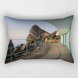 Meadfoot Beach Huts Rectangular Pillow