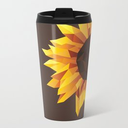 Polygonal Sunflower Travel Mug