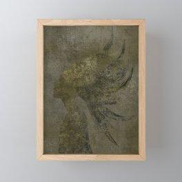 Golden Girl, Flowing Hair Framed Mini Art Print