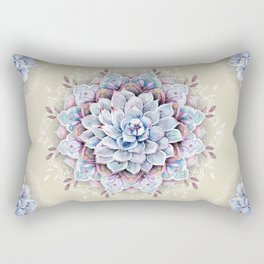 succulent mandala 3 Rectangular Pillow