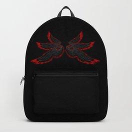 Black Red Archangel Wings Backpack