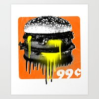 junk food Art Prints featuring Junk Food by Sushilove