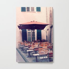 Sidewalk Cafe Metal Print