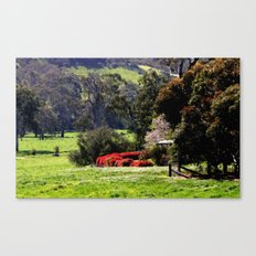 Farmhouse in the Valley Canvas Print