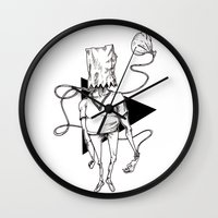bag Wall Clocks featuring Bag by Hopler Art