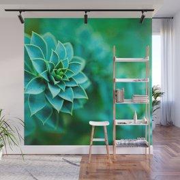 Green Succulent Mandala Wall Mural