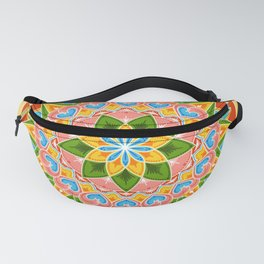 Costa Rica Folk Pattern – Decorated painting wheel of coffee ox cart Fanny Pack