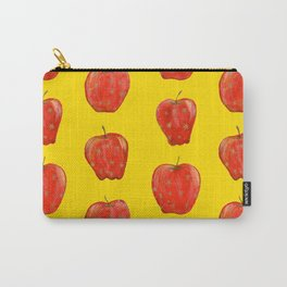 Red Remarkable Apple Pattern Carry-All Pouch