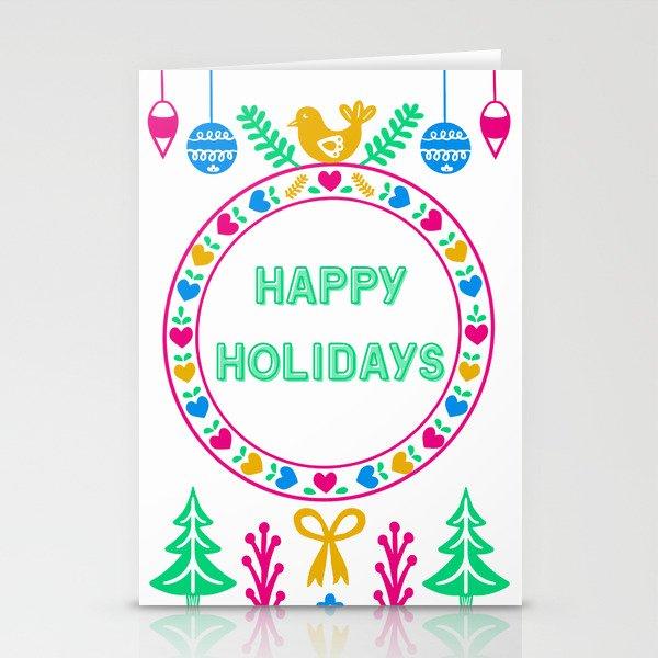 Bright Cheery Happy Holidays Stationery Cards