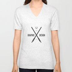 Graphic Design For Life. Unisex V-Neck
