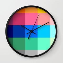 ART / ARTIST: Color Palette Wall Clock