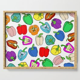 Rainbow Bell Peppers Paprika Serving Tray