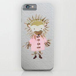 Hedgehog Forest Friends Baby Animals iPhone Case