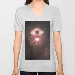 Japan - 'Red Shadow' Unisex V-Neck