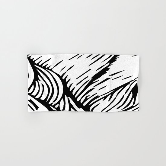 woodcut Hand & Bath Towel