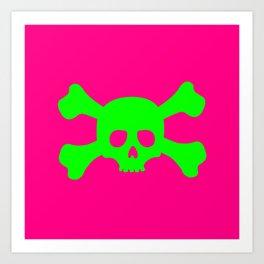 Toxic Skull Art Print