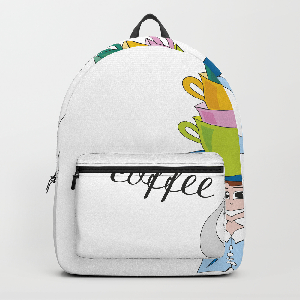 Cups Of Steaming Coffee Backpack by Crearinery BKP8702516
