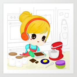 Let's Bake  Art Print