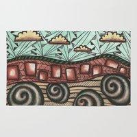 earth Area & Throw Rugs featuring Earth by sinonelineman